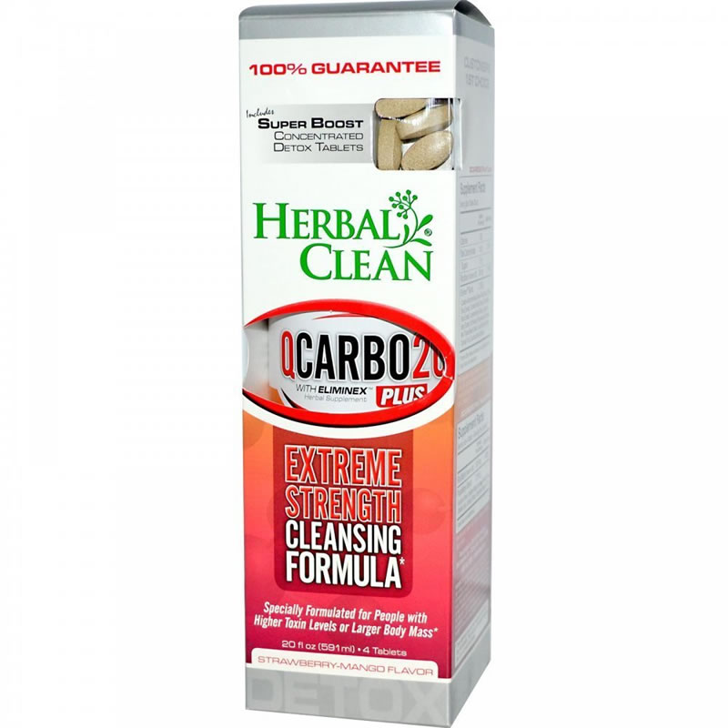 Herbal Clean Qcarbo Plus With Booster Strawberry Mango