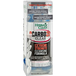 Herbal Clean QCarbo Plus With Booster. Cranberry-Raspberry Flavor