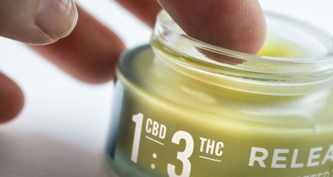 cannabis topical with THC